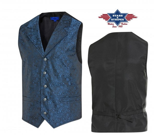 Stars & Stripes Herren Oldstyle Weste Royal Flush