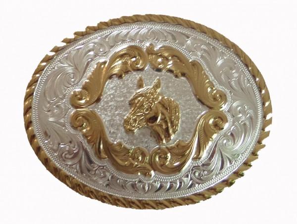 Montana Silversmiths Kinder-Gürtelschliesse, Pferdekopf