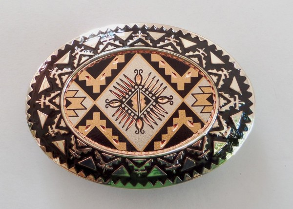 Herren-Westerngürtelschnalle, Southwest Native Americans
