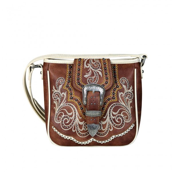 Western-Damenhandtasche Crossbody Brown