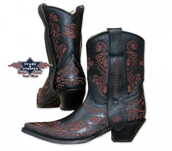 Stars & Stripes Ladies Boots black