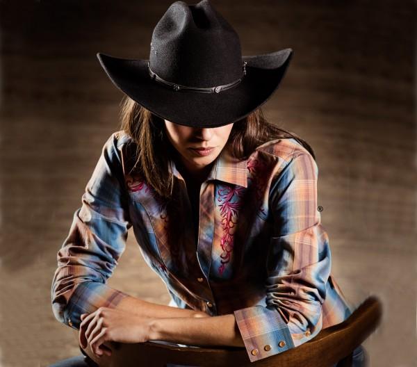 Stars & Stripes Damen-Westernbluse Whitney