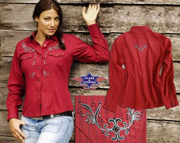 Stars & Stripes Damenbluse Bonnie, Partnerlook