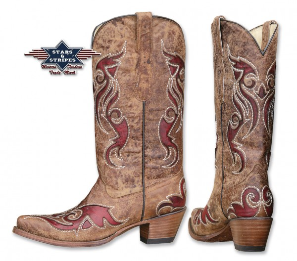 Stars & Stripes Ladies Boots brown