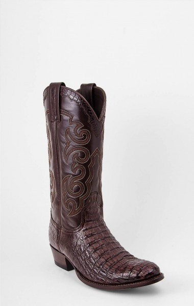 Sendra Boots Texas Caiman Cola Chocolate