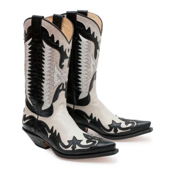 Sendra Boots 3840 Cuervo Laca Negro / Hielo