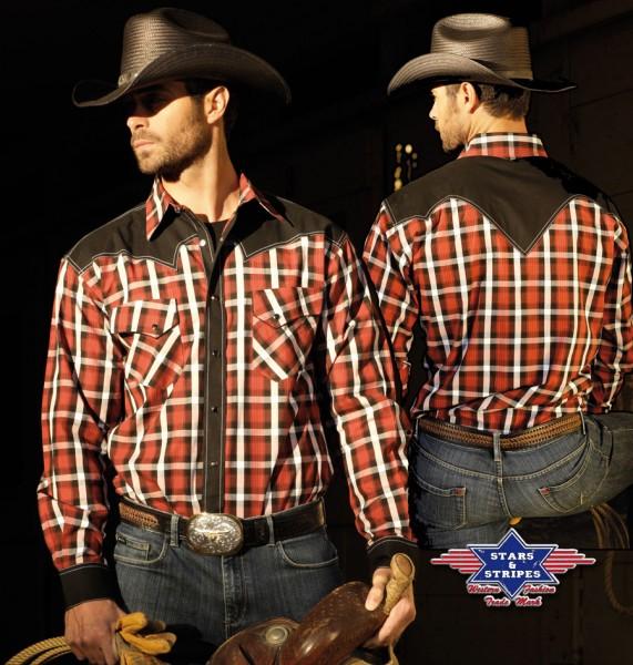Stars & Stripes Herren-Westernhemd Jayden