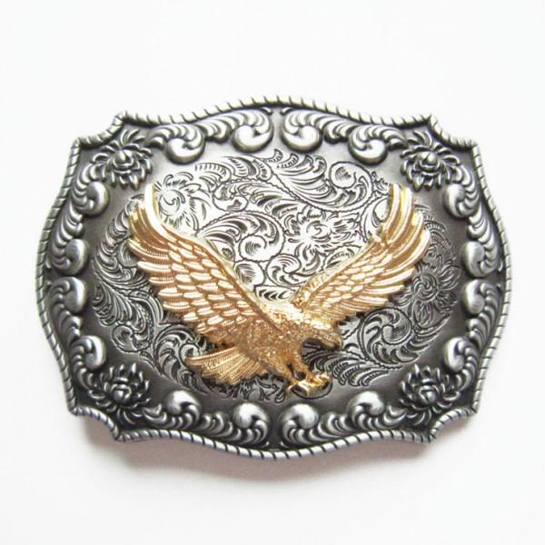 Herren-Westerngürtelschnalle, fliegender Adler