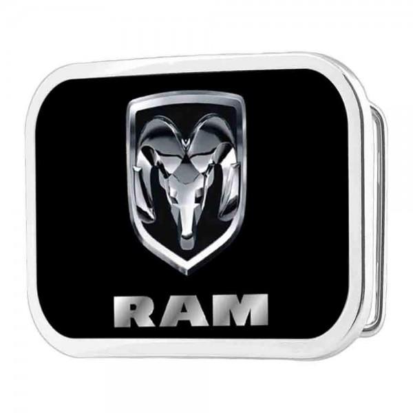 Herren-US-Car Gürtelschnalle, Dodge RAM black