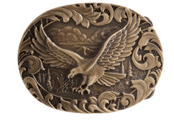 Montana Silversmiths Herren-Gürtelschnalle, Fliegender Adler