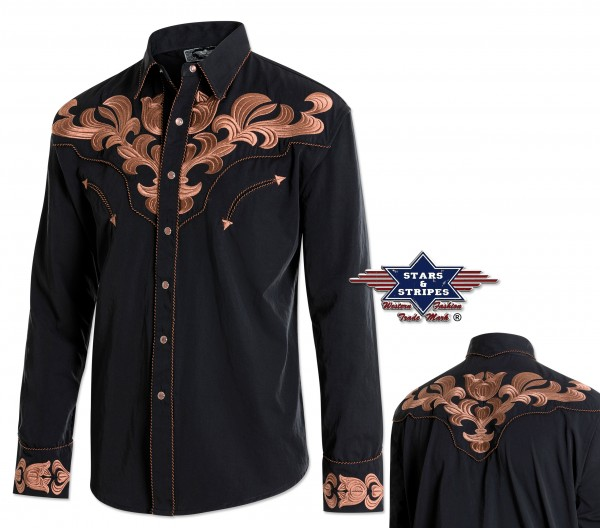 Stars & Stripes Herren-Westernhemd Harvey, langarm