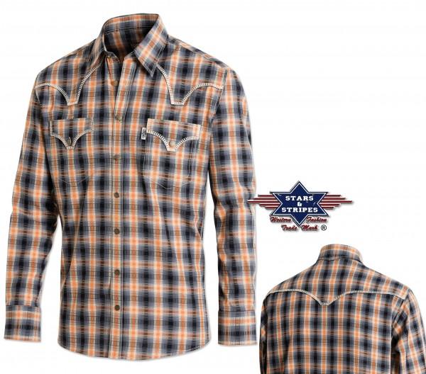 Stars & Stripes Herren-Westernhemd Justin, langarm