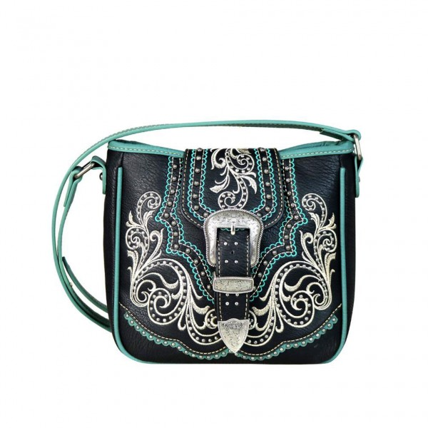 Western-Damenhandtasche Crossbody Blue