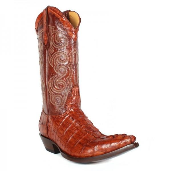 Sendra Boots Texas Caiman Cognac